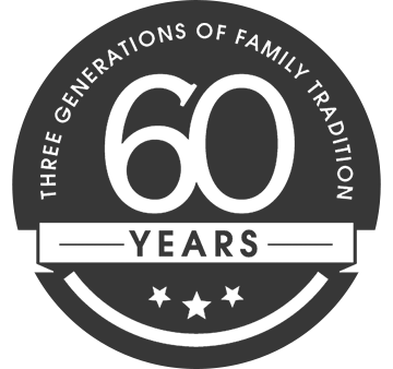 Dostie Homes 60th Anniversary Logo